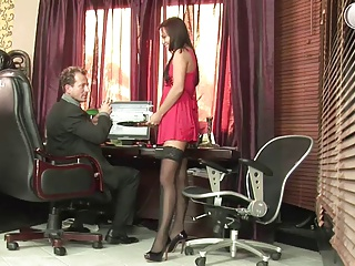 Russian Secretary In Fist Fuck Action At Office