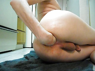 Thrusting A Dildo Into My Ass And Then Fisting Myself.