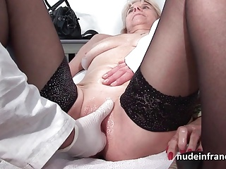 Mature Fisted And Sodomized In A French Orgy At The Gyneco