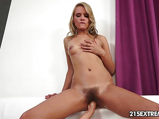 Hairy Teen Girl Gets A Fist Inside Her Hairy Pussy