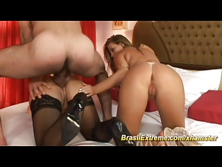 Babes Sharing Strong Penis