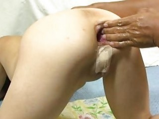 Extreme Amateur Anal Fisting And Wine Bottle Fuck