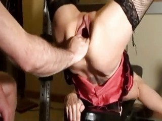Horny Milf Fist Fucked In Her Gaping Cunt Till She