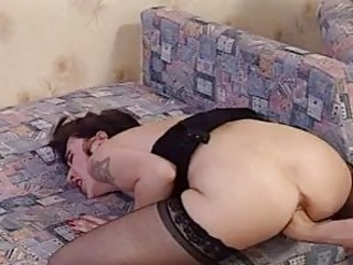 Slut In Stockings Getting Fisted
