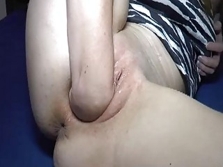 Double Fisting And Fucking Her Ruined Teen Pussy
