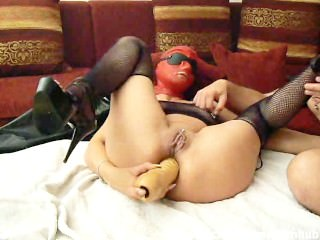 Monster Anal Dildo Fucked And Fisted Amateur