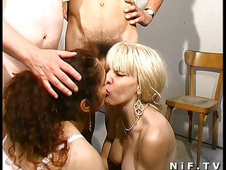 French Swingers In Extrem Groupsex Party