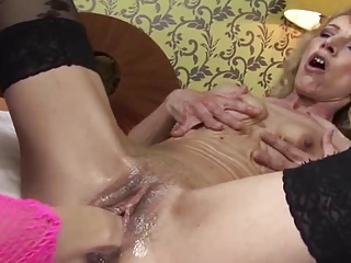Hot Granny Fisted By Teen
