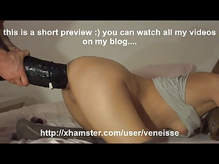 Veneisse Extreme Double Fisting Anal & Pussy And Big Dildo