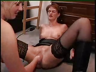 Young Girl Fisting Her Mature Neighbor.F70