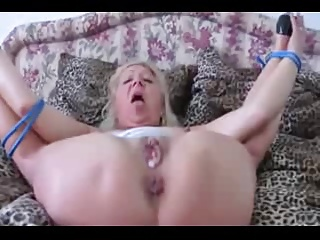 Tied Up Blonde Mature Fucked And Fisted