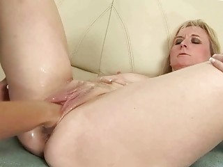 Mature Blonde Gets Anal Fisted