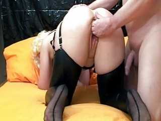 Fisting The Wifes Gaping Cunt Till She Orgasms