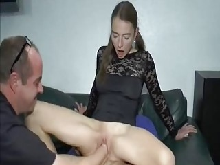 Double Fist And Cock Stretching Her Ruined Teen Twat